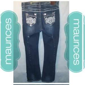 "Sz14 Maurices Distressed Jean's ""Bling Bling"""